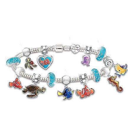 DISNEY LILO AND STITCH FOUR BRACELETS  WITH CHARMS.GREAT PRESENT.
