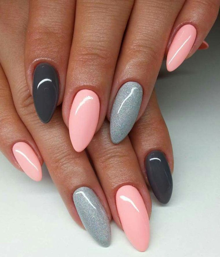 These colors are really nice to match. Best Grey Nail ...