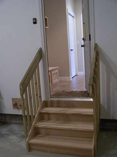 Garage Stairs With Landing Steps