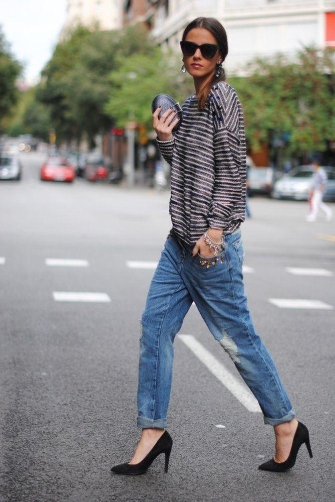 The Boyfriend Jean..stripes