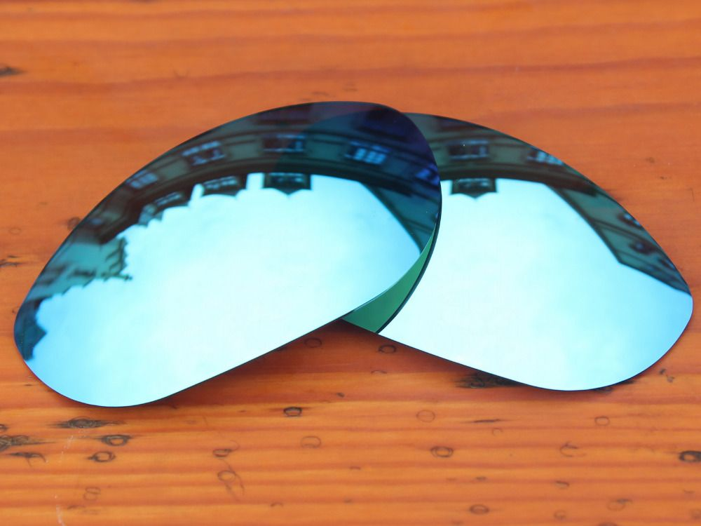 Polycarbonate-Ice Blue Mirror Replacement Lenses For Monster Dog Sunglasses Frame 100% UVA & UVB Protection