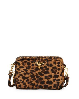 42444098a14f Leopard-Print Calf Hair Mini Crossbody Bag by Prada at Bergdorf Goodman.