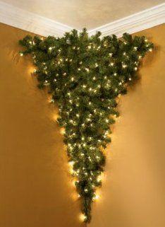 Half Christmas Tree.4 Foot Half Upside Down Corner Tree Christmas Corner