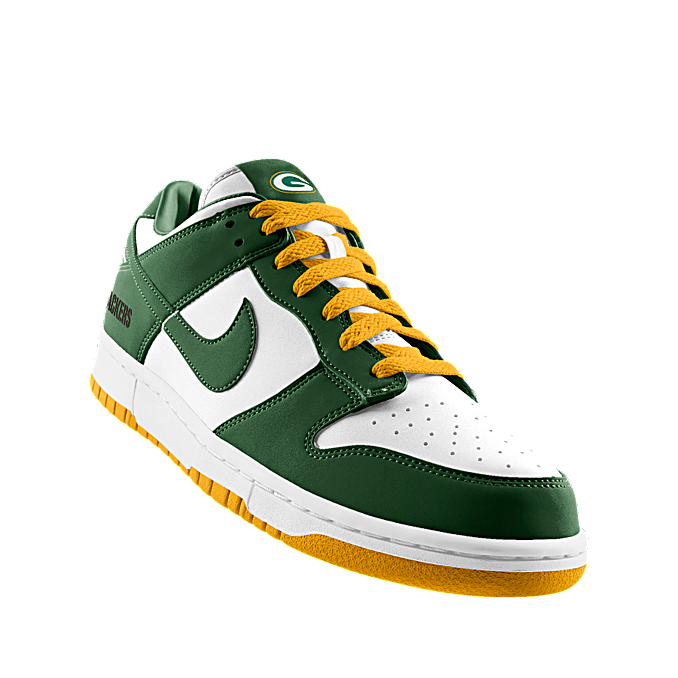 the best attitude 5e0aa 75b99 Custom Nike Dunk Low (NFL Green Bay) iD Shoe Green Bay Packers ...