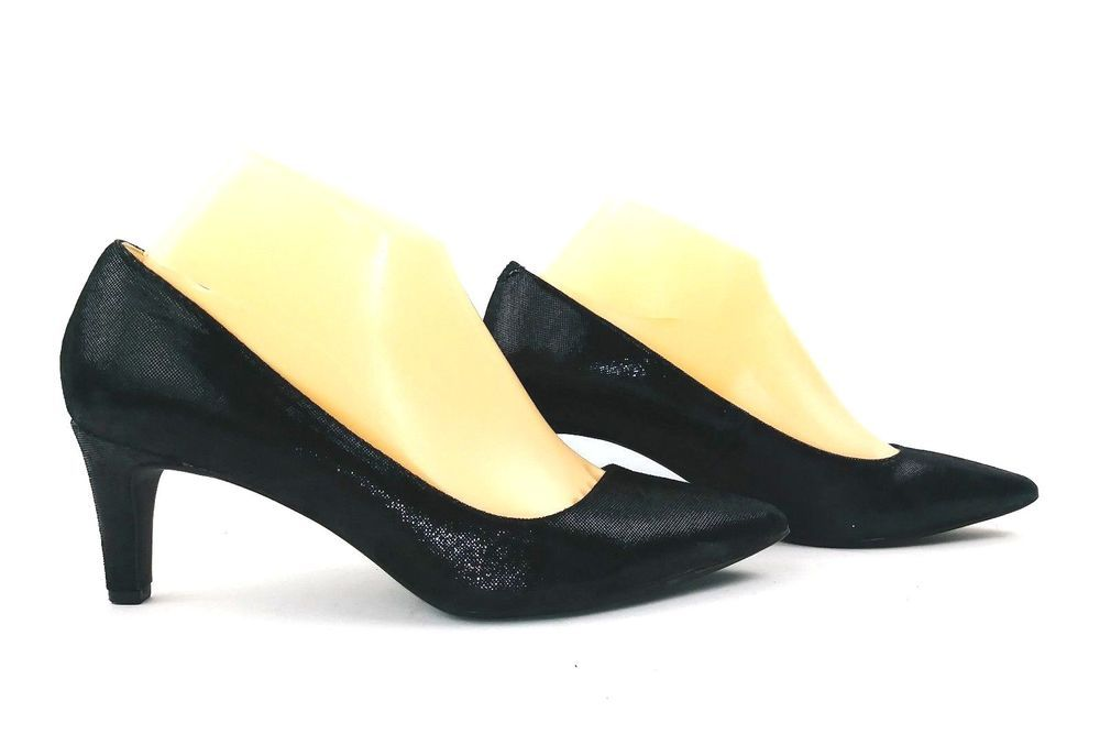 19dcf81eeb5 Anne Klein Iflex Womens Barb Heels Size 8 Black Leather Pumps  AnneKlein   PumpsClassics
