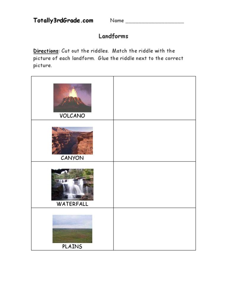 Pin By Noelle Williams On Vocabulary In 2020 Landforms Worksheet Landforms Worksheets