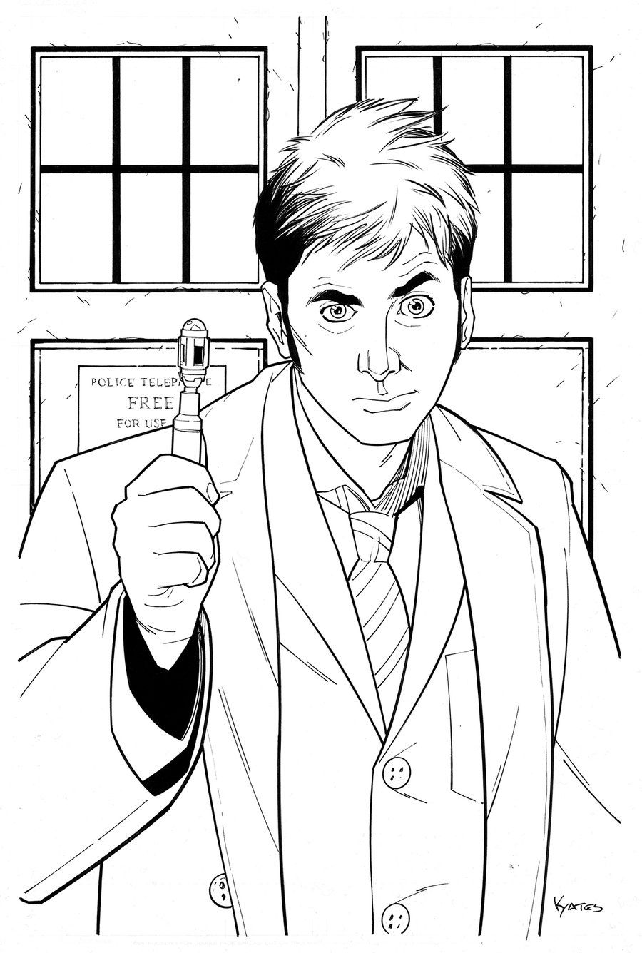 doctor who coloring pages | 10th Doctor Who By KellyYates On DeviantARTPolice And Army Clipart ...