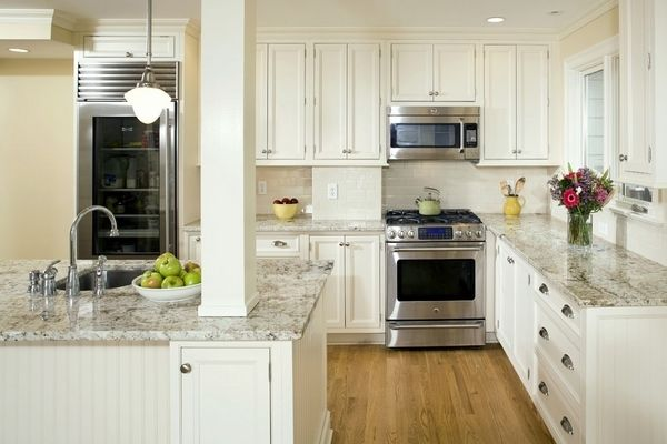 Beautiful White Kitchen Design Kashmir White Granite Countertops