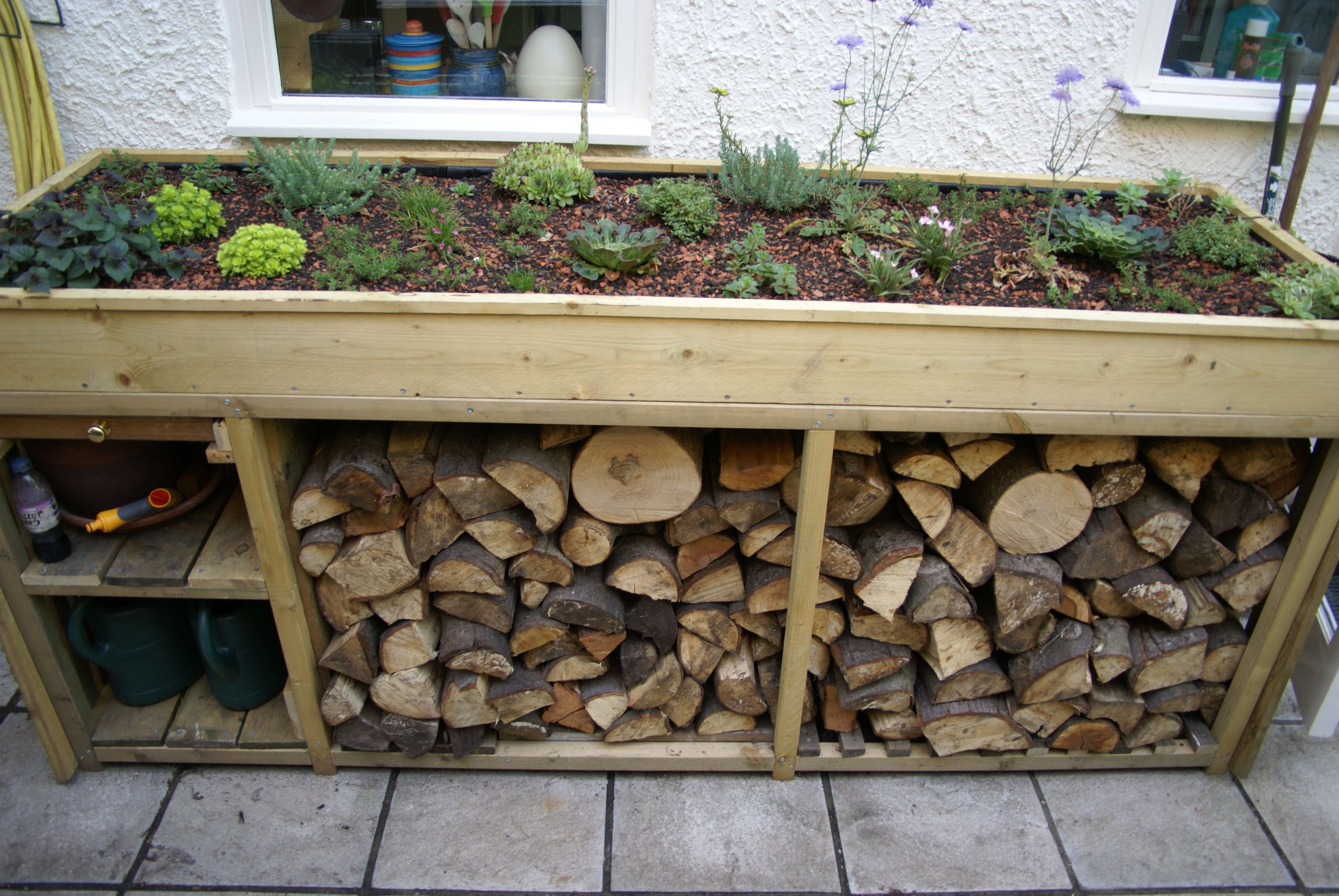 Log Store With Green Roof Google Search Firewood Log