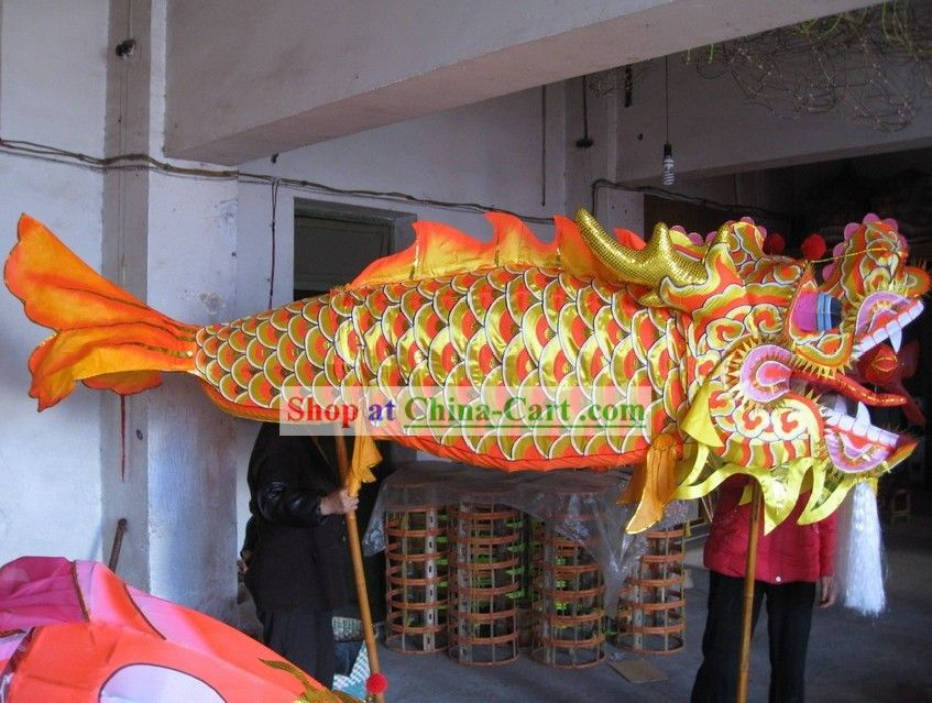 Traditional Chinese New Year Fish Dragon Dance Costumes