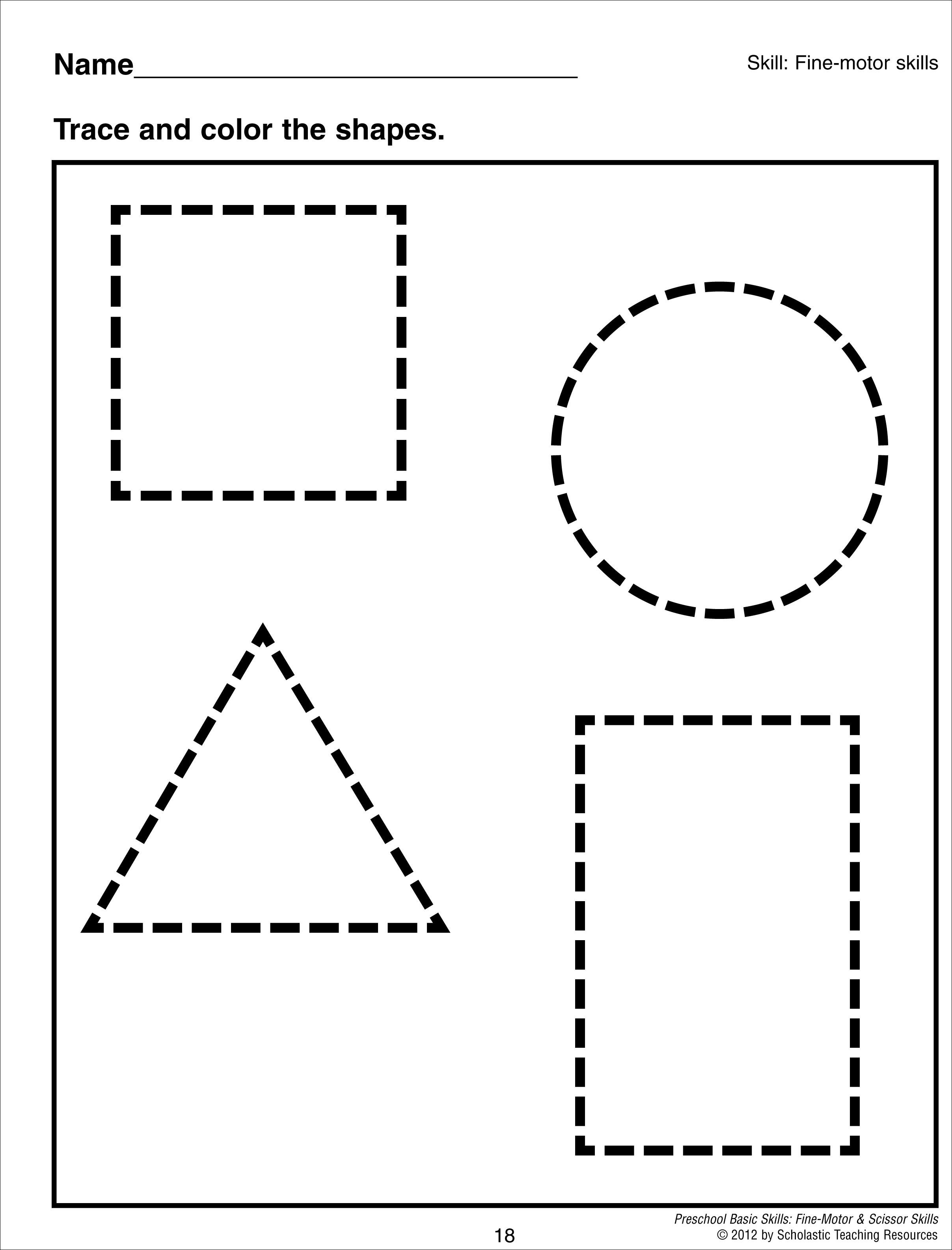 This videos and are on electric with shape requires tracing – Shape Tracing Worksheets