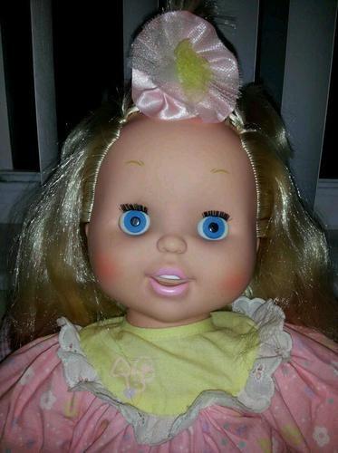 Vintage 1992 Toy Biz Baby Loves To Talk Electronic Talking