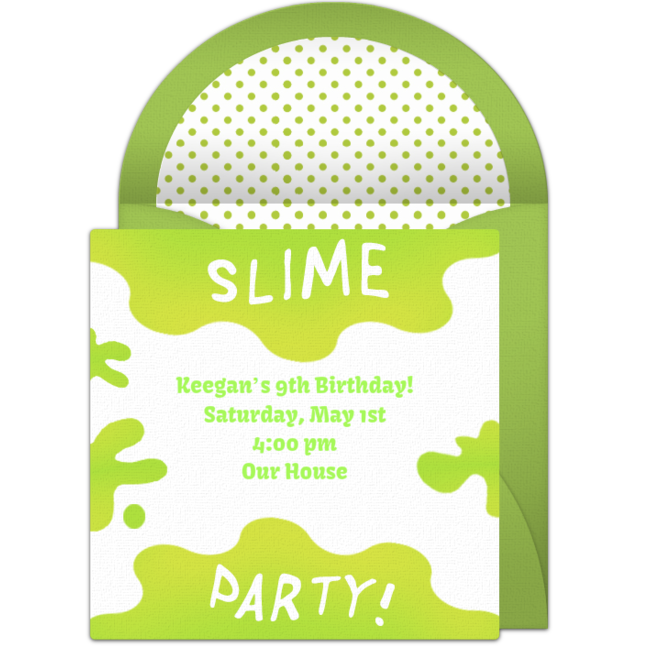 free slime invitations in 2018 boy birthday ideas pinterest