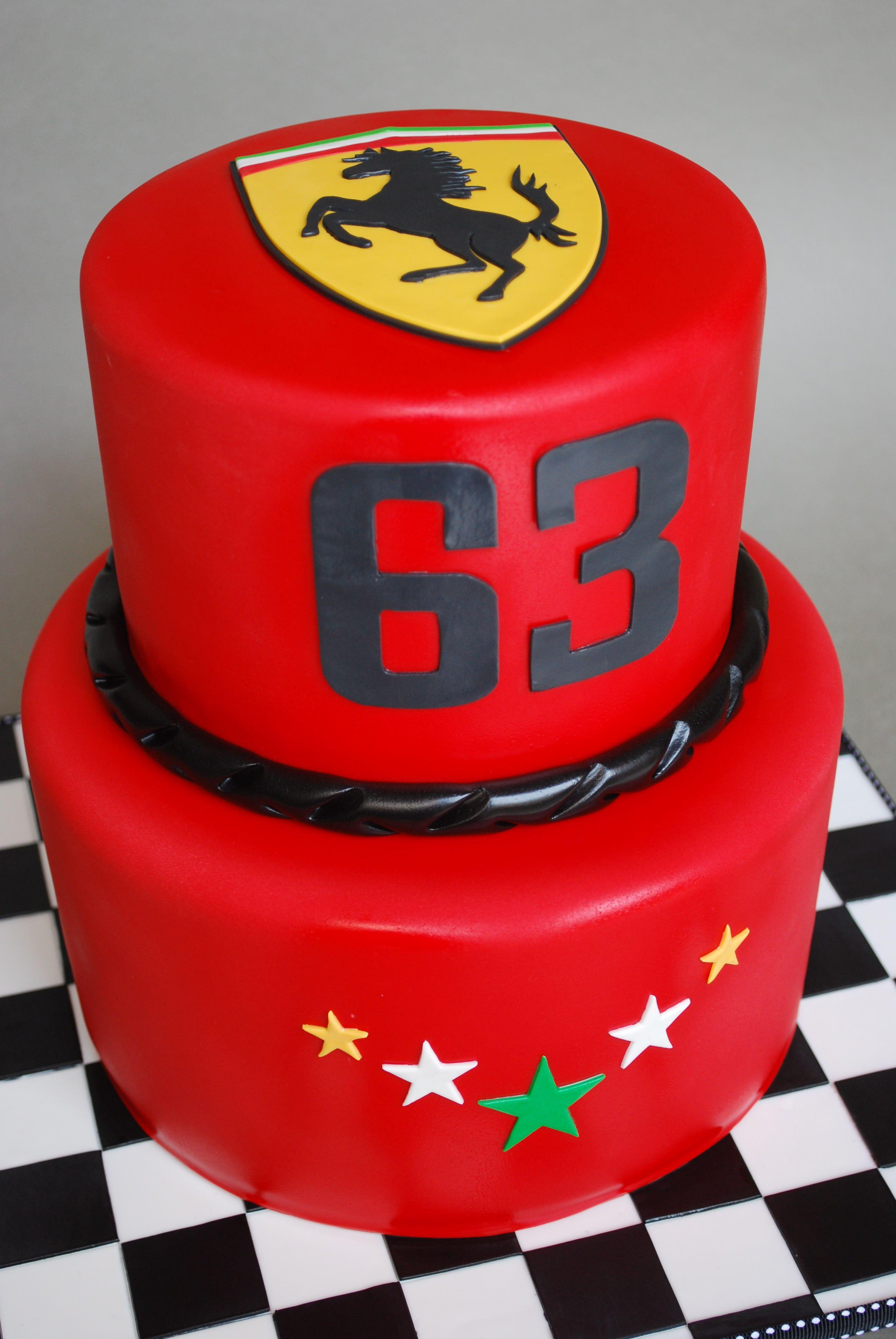 Ferrari Cake Moxy Mx With Images Ferrari Cake 40th Birthday