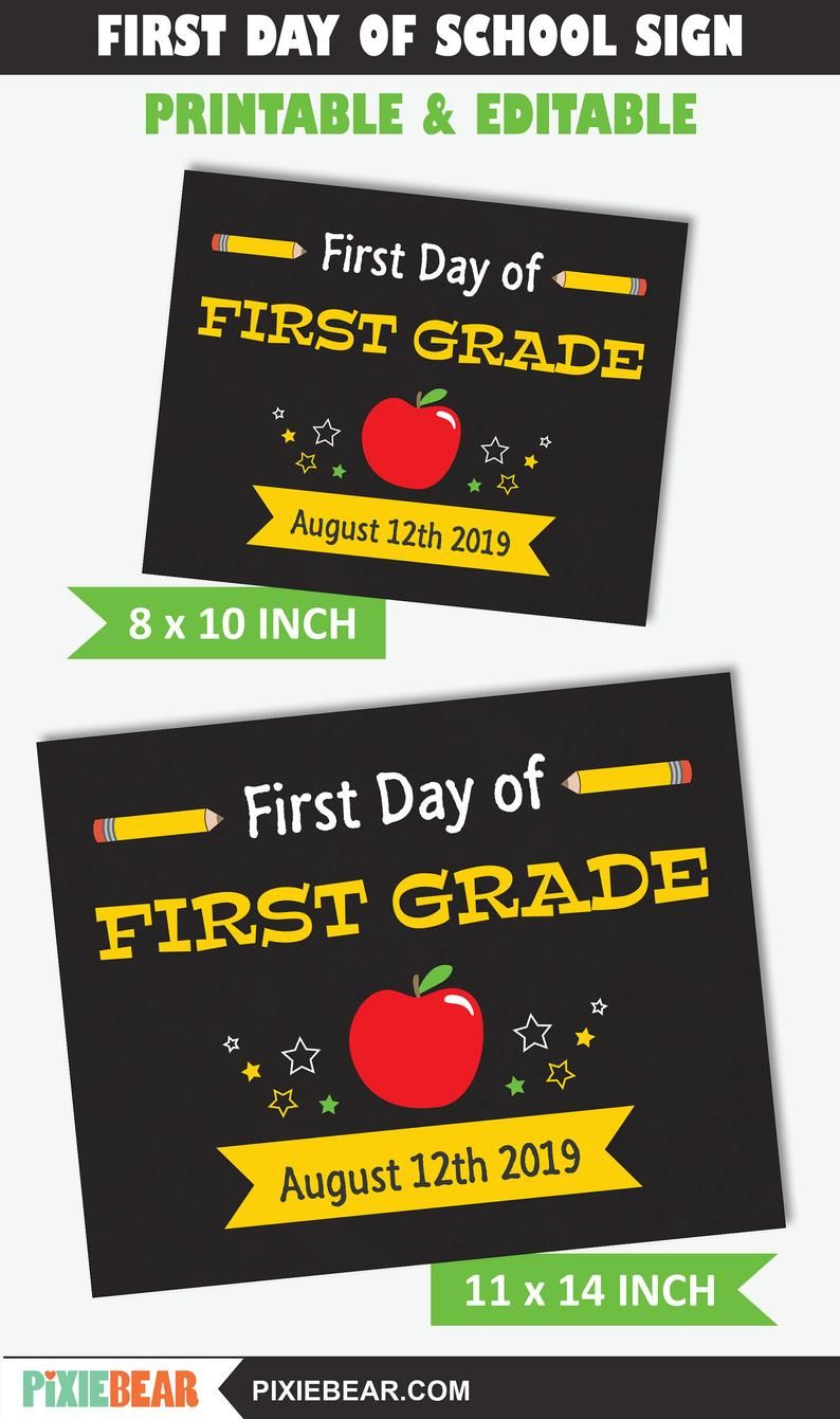 This Apple first day of school sign will put a huge a