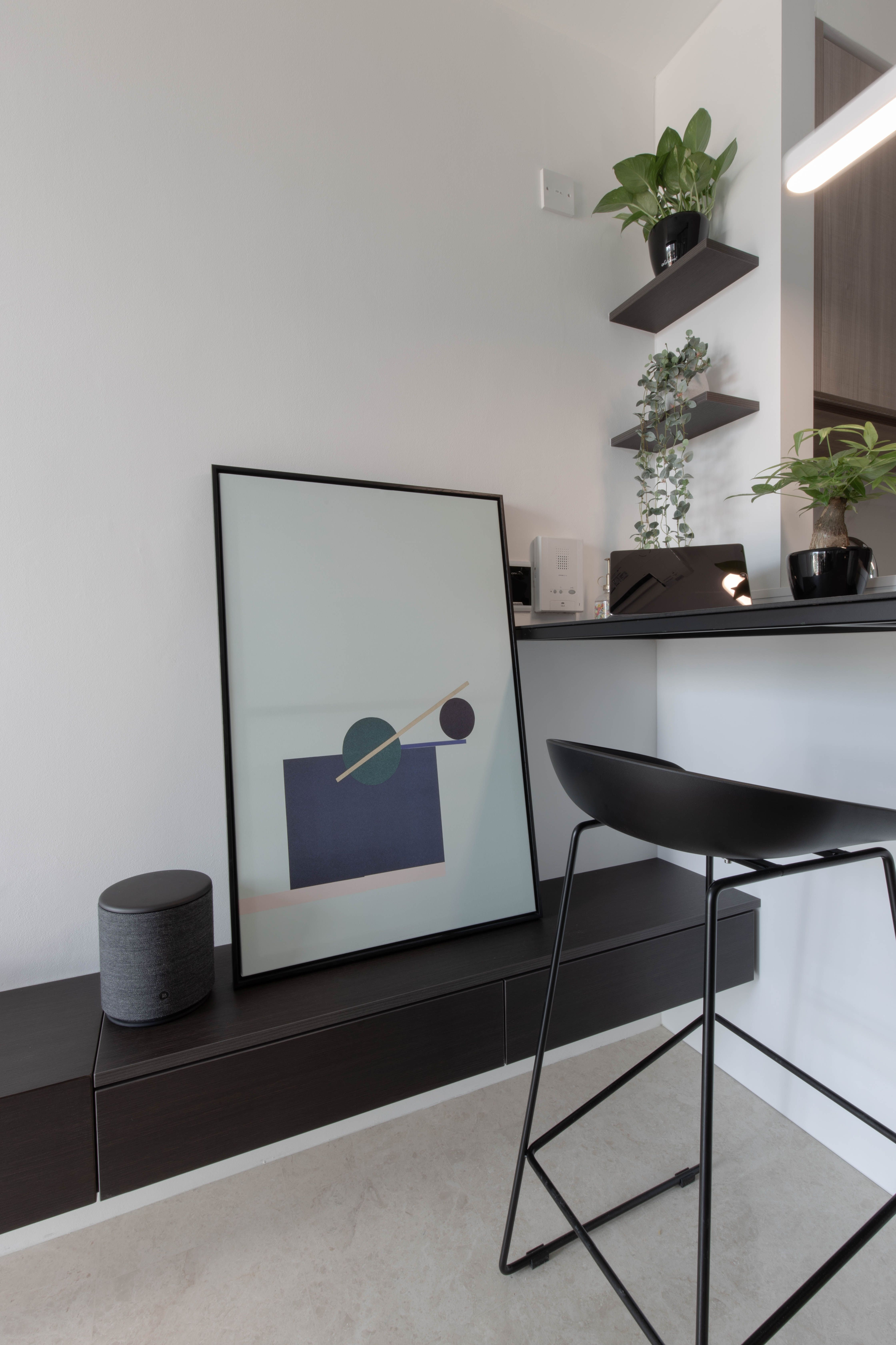 Minimalist interior design with monochromatic scheme in a ...