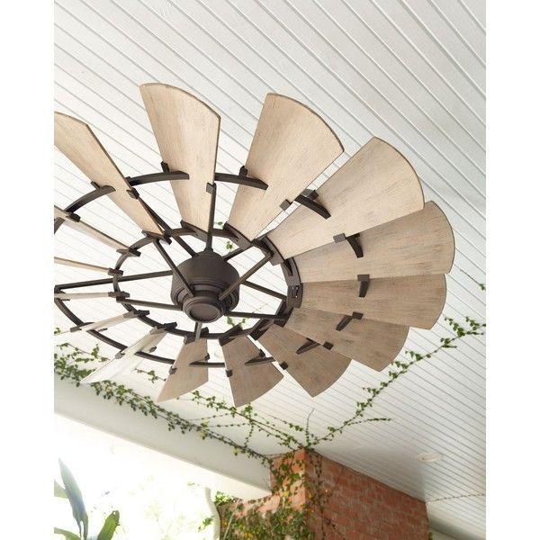 Windmill Bronze 60 Outdoor Ceiling Fan 7880375 Pyg Liked On