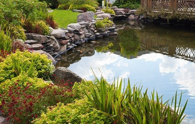Charmant Large Backyard Pond, Pond Boulders Pond And Waterfall Landscaping Network  Calimesa, CA
