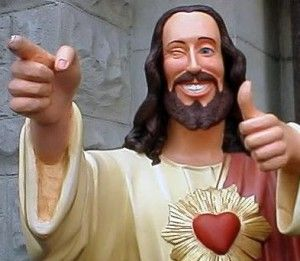 Image result for Jesus statue pointing smiling