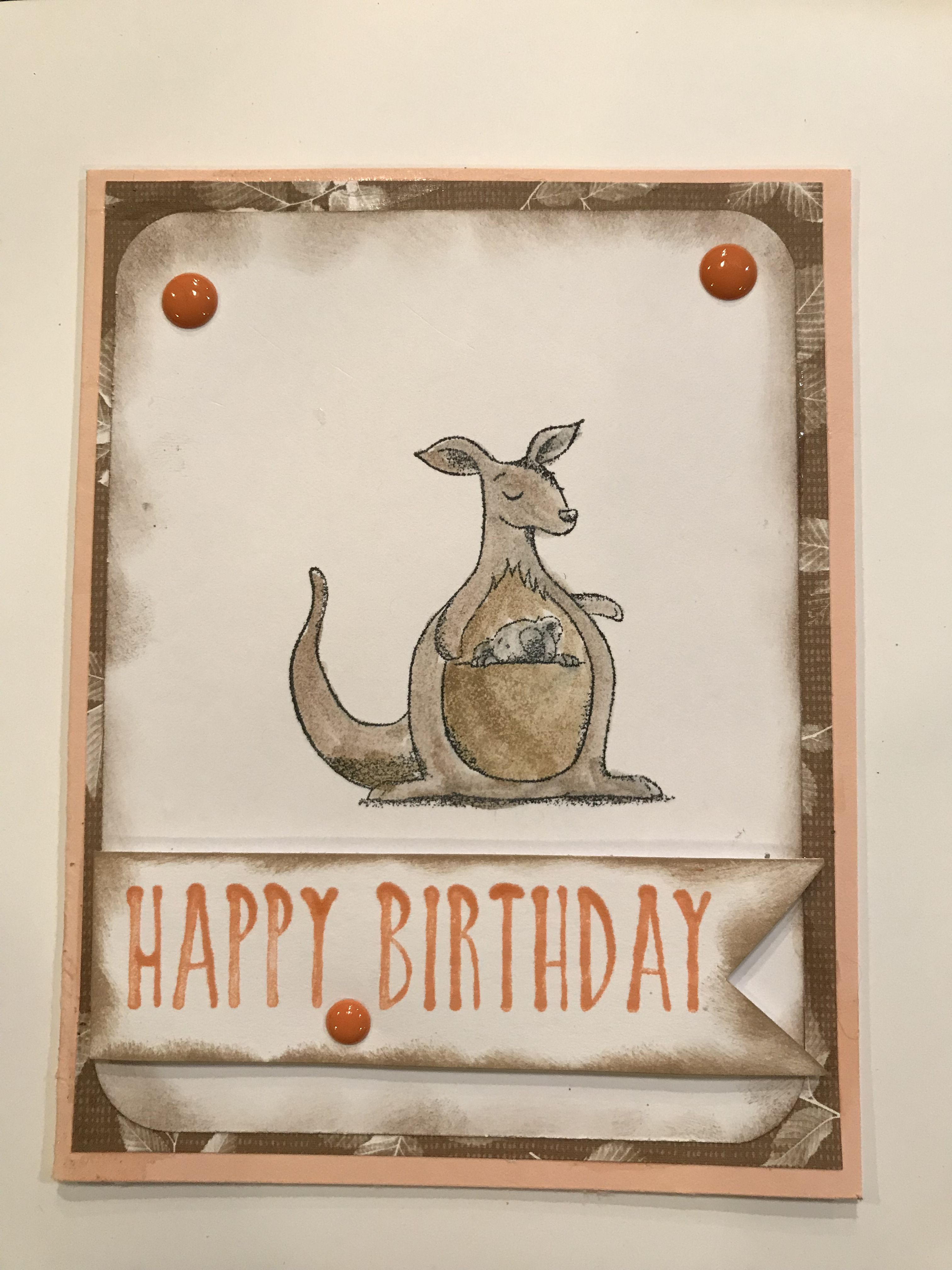 Kangaroo Birthday Card Sold Birthday Cards Cards Happy Birthday