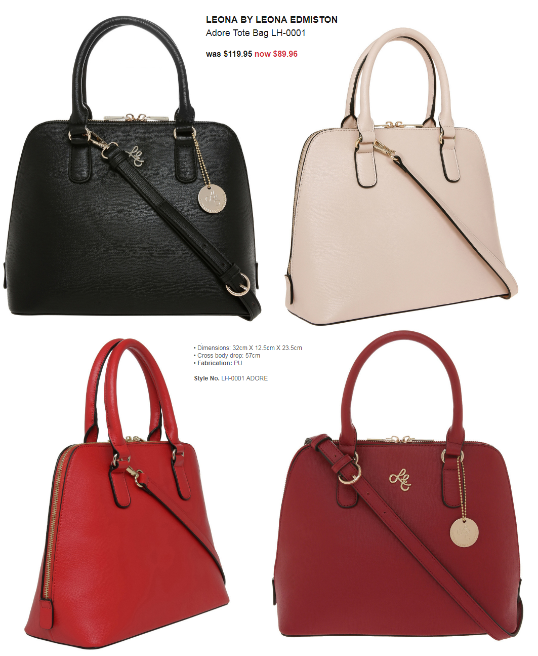 Leona By Edmiston Lh 0001 Adore Tote Bag Was 119 95 Now 89 96