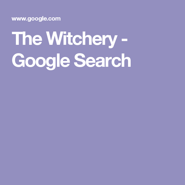 The Witchery - Google Search