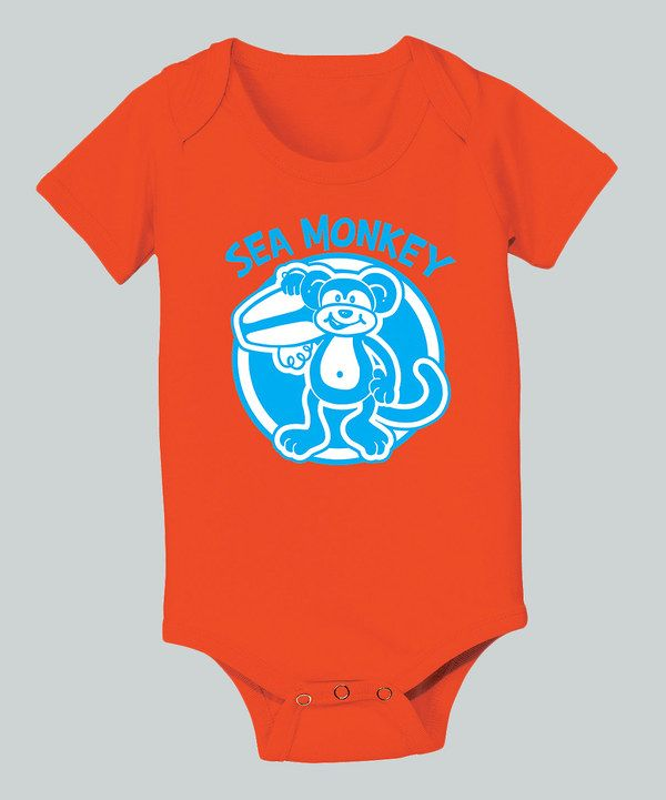 Look at this Orange 'Sea Monkey' Bodysuit - Infant on #zulily today!