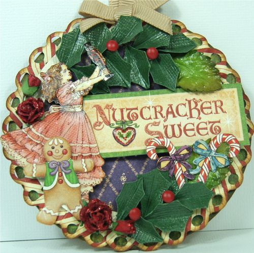 Nutcracker Sweet ornament by Andrew Roberts - love the holly #graphic45