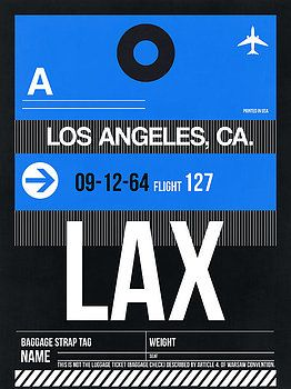 Naxart Studio - Los Angeles Luggage Poster 3