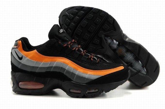new product 8d2f2 8bce1 Nike Air Max 95 OG Chaussure Pour Homme Pas Cher Noir Dorange Gris
