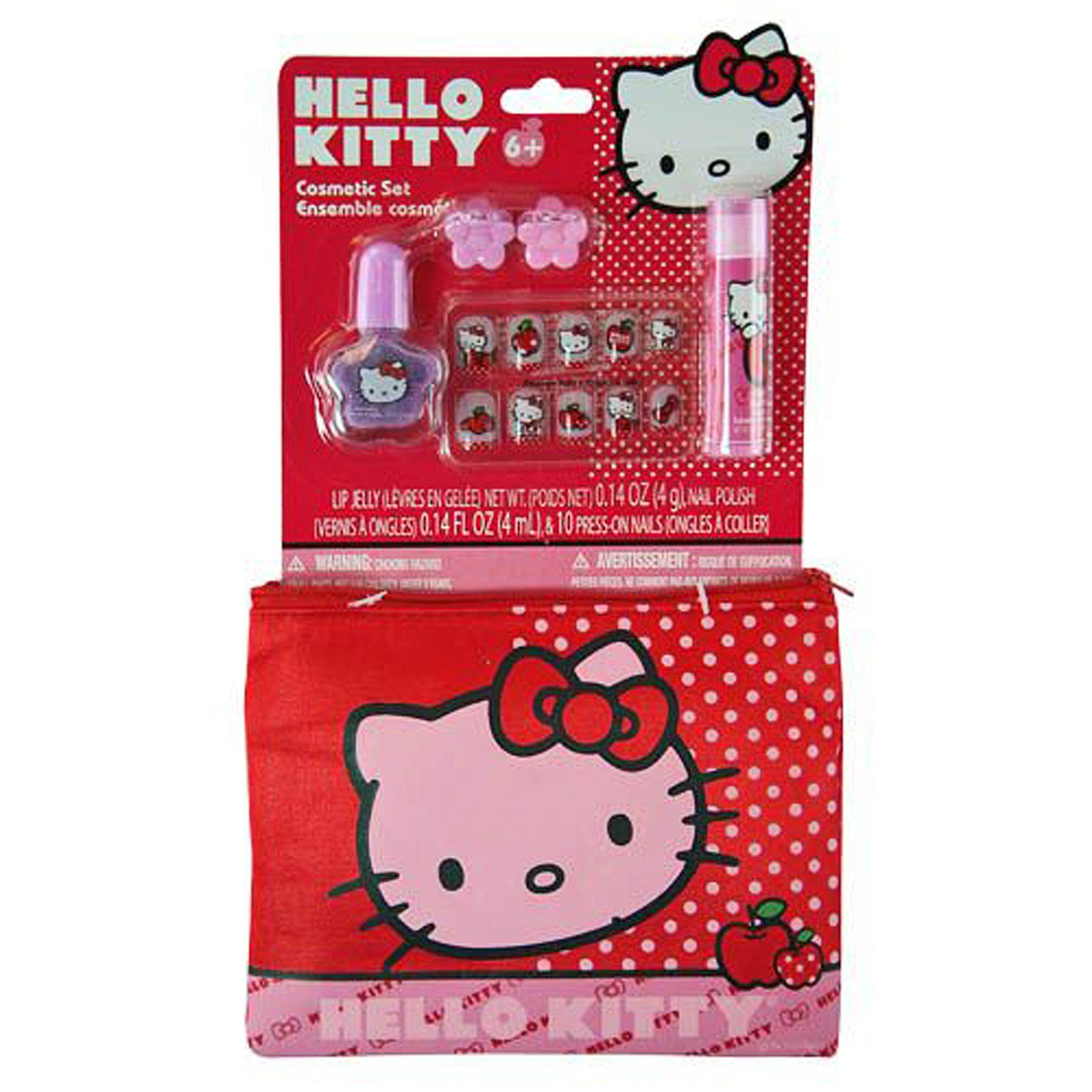 Hello kitty cosmetic gift set with sparkly lip