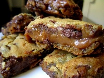 choc chip caramel-peanut butter bars