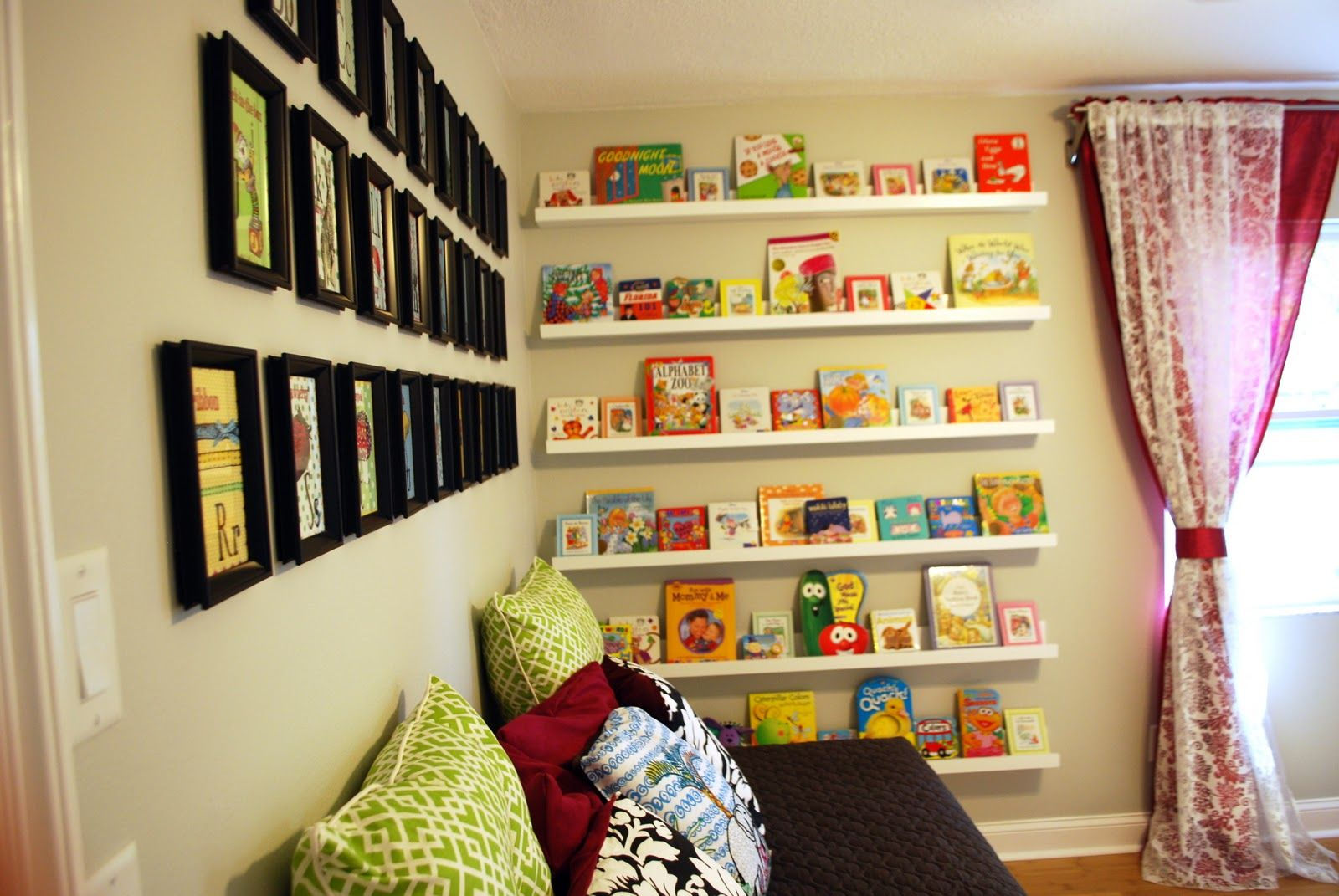 built in baby nursery | Nursery Room Book Shelves from $10 Ledge ...