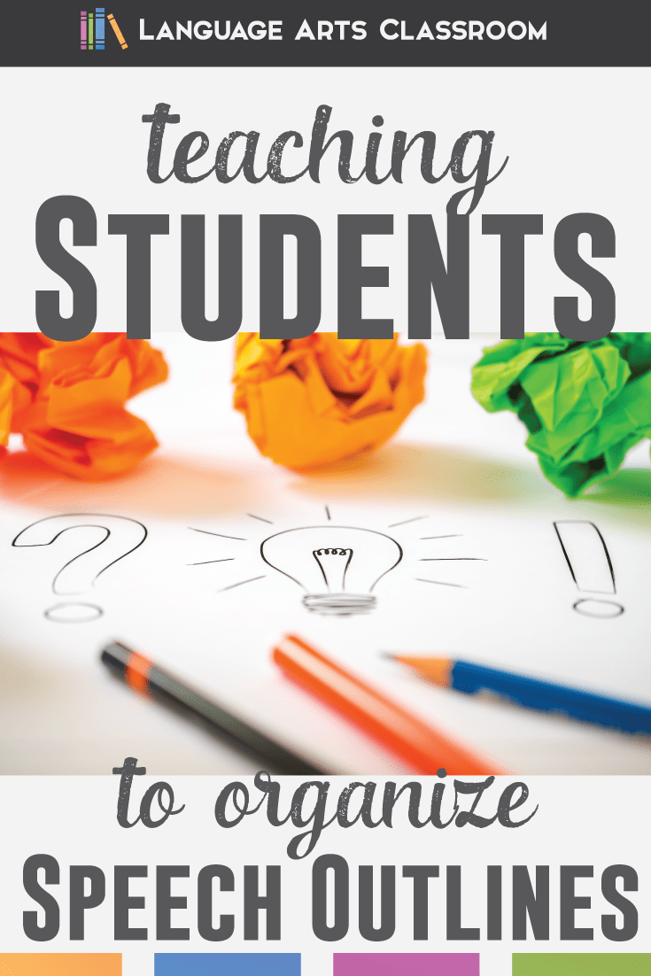 What Speech Outline Is Right For Your Students  Public Speaking