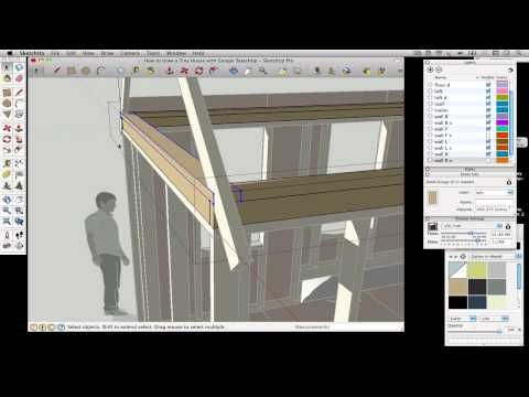 How To Draw A Tiny House With Google Sketchup Part 3 Petit