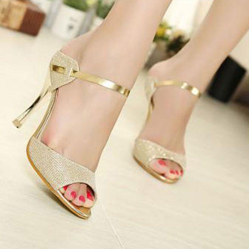 Vogue Women Peep Toe Pumps Stiletto Sandals High Heel Slipper Shoes US 4 bd20eb290f7e