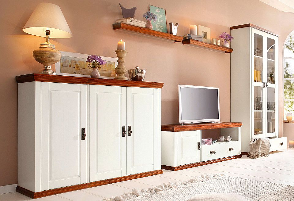 Wohnwand »Serie Konrads« (5-tlg) Jetzt bestellen unter   - Wohnzimmermöbel Weiß Landhaus