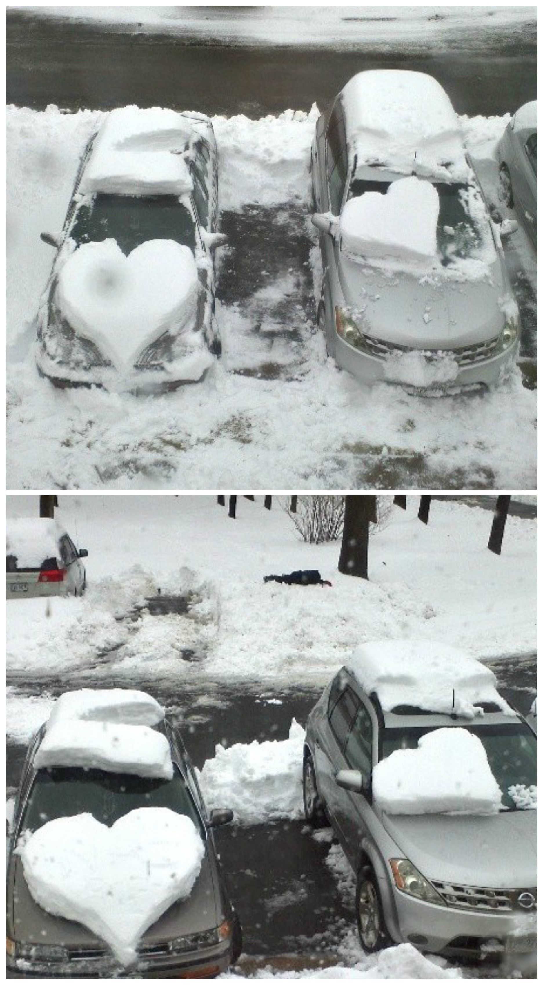 Snow Hearts on your car for a Valentine\'s Day surprise! #DIY ...
