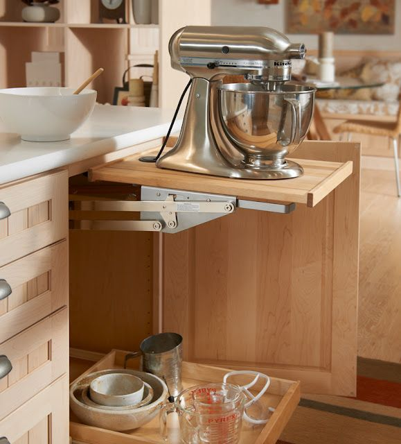 Nice Base Mixer Cabinet: Pull Out Drawer Below For Mixing Bowls Or Attachments,  No Need To Lift The Mixer (install Outlet Inside Base Cabinet, ...