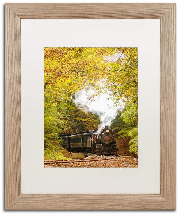 PIPA Fine Art 'Steam Train with Autumn Foliage' Matted Framed Art - 16 x 20 #autumnfoliage