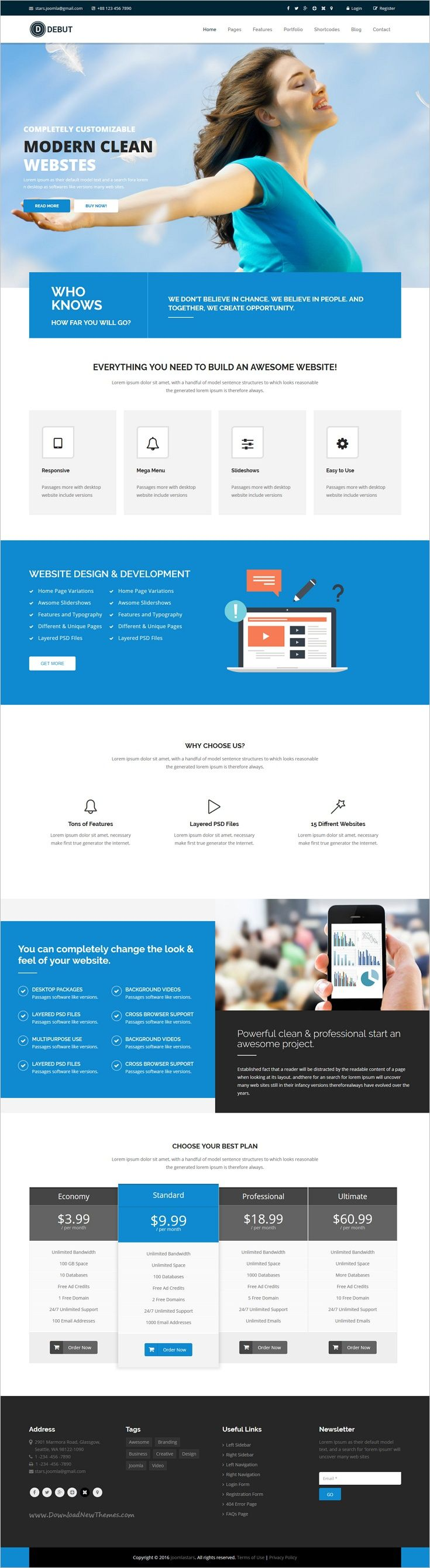 Debut is a modern and professional responsive #Joomla template for awesome #corporate websites with 11+ multipurpose homepage layouts download now➩ https://themeforest.net/item/debut-the-multipurpose-responsive-joomla-theme/19077114?ref=Datasata