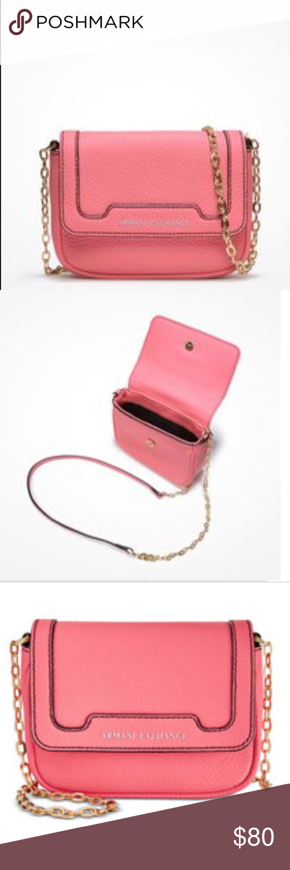 Armani Exchange Crossbody Bag Small in size but big in style. This sleek crossbody  bag e647038a5b3aa