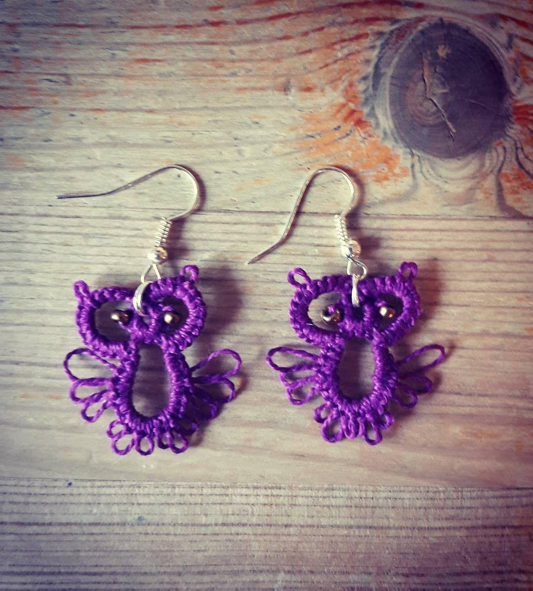 katrikeinanen - #korvakorut #earrings #käsityöt #ominjalointehty #needletatting #tatting #neulapitsi
