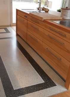 Terrazzo Boden terrazzo boden in der küche pflegeleicht und sehr dekorativ