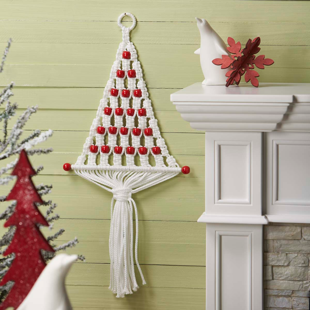 Herrschners Peppermint Tree Macrame Wall Hanging Walmart Com Christmas Wall Hangings Macrame Wall Hanging Macrame Projects
