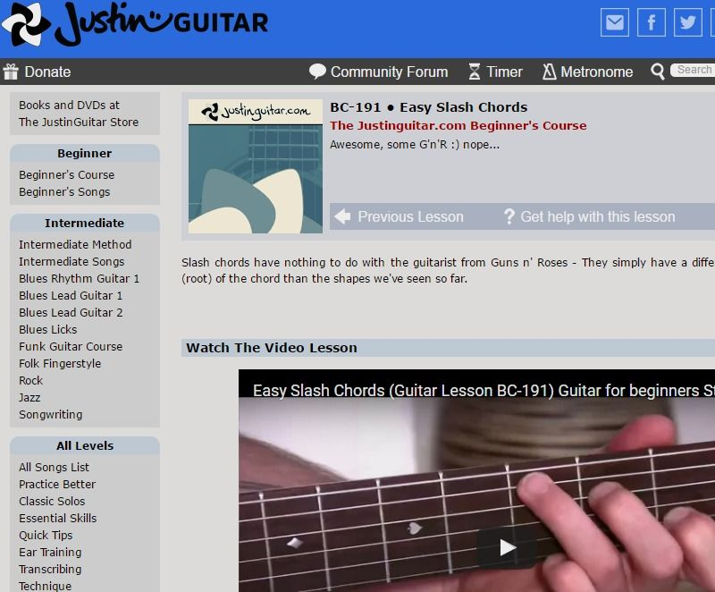 Beautiful Slash Chords Guitar Ideas Basic Guitar Chords For