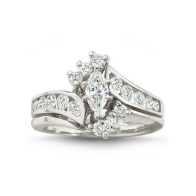 1 Ct T W Diamond Ring Jcpenney Bridal Ring Sets Engagement