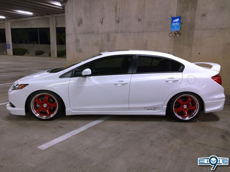 Auto Tuning Honda Civic SI 2014 White Sedan