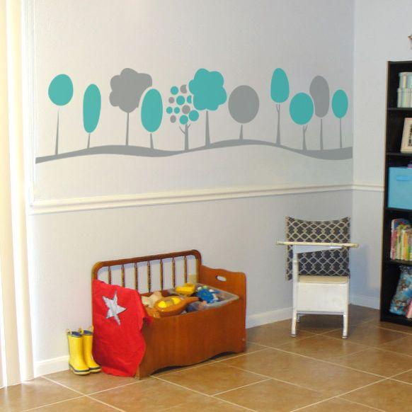 Mini Trees Wall Decal Sticker Gender Neutral Nursery Baby Room - Nursery wall decals gender neutral