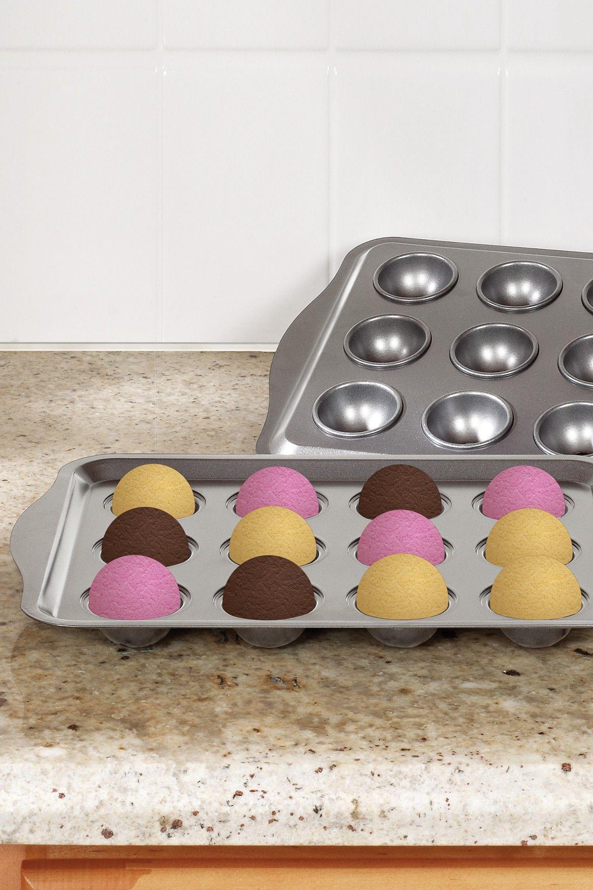 Cake pop 12 reusable popstick baking tray set on